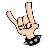 Heavy metal devil horns hand sign — Stock Vector