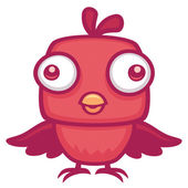 Cute Baby Bird — Stock Vector