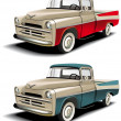 Stock Vector: 50s styles pickup