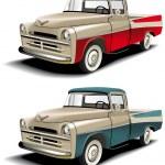 50s styles pickup — Stock Vector