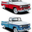 Stock Vector: Retro american pickup
