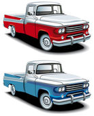 Retro american pickup — Stock Vector