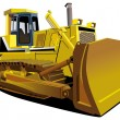 Stock Vector: Yellow Dozer