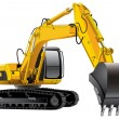 Power Excavator — Stockvectorbeeld