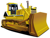 Yellow Dozer — Stock Vector