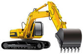 Power Excavator — Vettoriale Stock