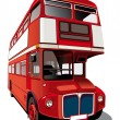 Red double-decker bus - Stock Vector