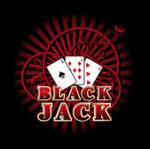 Black Jack — Stock Vector