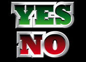 Yes and No — Stock Vector