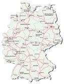 Germany autobahn map — Stock Vector