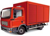Camioneta roja — Vector de stock