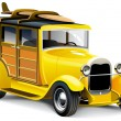 Yellow Hot Rod — Stock Vector