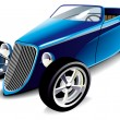 Blue Hot Rod — Stock Vector