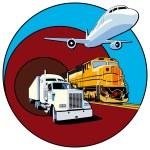 Cargo transportation — Stock Vector