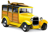 Yellow Hot Rod — Stock Vector
