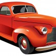 Red old-fashioned hot rod - Stock Vector