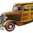 Royalty-Free Stock Vector Image: Old-fashioned hot rod