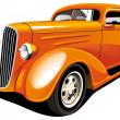Stock Vector: Orange Hot Rod