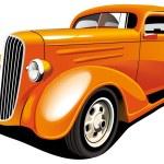 Orange Hot Rod — Stock Vector #3624340