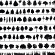 Trees, Bushes, Grass - Imagen vectorial