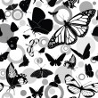 Seamless pattern with butterflies — Stock Vector #3216049