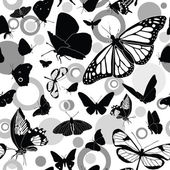 Seamless pattern with butterflies — Stockvektor
