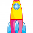 Stock Vector: Rocket