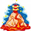 Volcano - Stock Vector