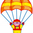 Skydiver — Vector de stock