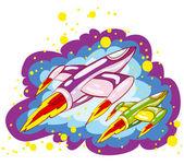 Spacecrafts — Stock Vector