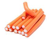 Orange curlers — Stock Photo