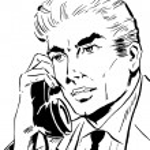 Businessman talking on phone — Stock Photo #2998963