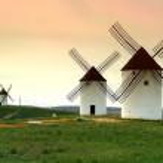 Windmills - Castilla-La Mancha. Spain — Stock Photo