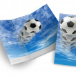 Royalty-Free Stock Photo: TEMPLATE OF SOCCER BALL BROCHURE
