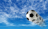 BACKGROUND OF SOCCER BALL — Stockfoto