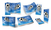TEMPLATE OF SOCCER BALL BROCHURE — Stock Photo