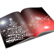 Royalty-Free Stock Photo: 3d render christmas notebook on a white background