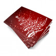 3d render christmas notebook on a white background — Stock Photo