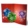 3D christmas greeting card on a white background — Stock Photo