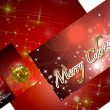 3D christmas greeting card on a white background — Photo