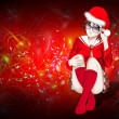 Santa Claus women Background , Christmas  Card — Stock Photo #3757951