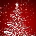 Illustration Christmas tree Background , Christmas Card — Stock Photo