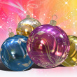 Royalty-Free Stock Photo: Christmas Balls background, illustration of Christmas Card