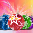 Christmas Balls background, illustration of Christmas Card — Stock Photo #3760291