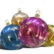 Stock Photo: Christmas Balls background, illustration of Christmas Card