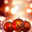 Christmas Balls background, illustration of Christmas Card - Stock Photo