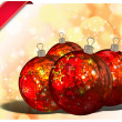 Christmas Balls background, illustration of Christmas Card — Stock Photo #3760392