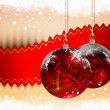 Christmas Balls background, illustration of Christmas Card — Stock Photo #3760415