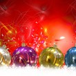 Christmas Balls background, illustration of Christmas Card — Stock Photo #3760428