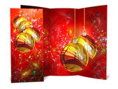 3D render Christmas Card on a white background — Stock Photo